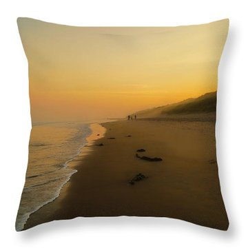 The Morning Walk Throw Pillow by Roy McPeak
