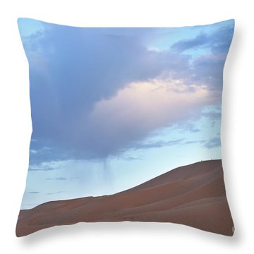 Throw Pillow featuring the photograph The Moroccan Dunes by Yuri Santin