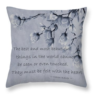 Throw Pillow featuring the mixed media The Most Beautiful Things In The World by Movie Poster Prints