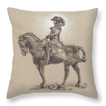 The Most Illustrious John Churchill, First Duke Of Marlborough Throw Pillow
