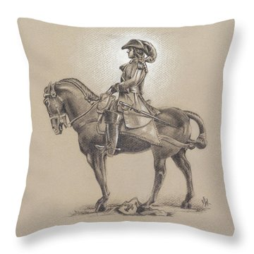 The Most Illustrious John Churchill, First Duke Of Marlborough Throw Pillow