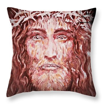 The Most Loved Jesus Christ Throw Pillow by AmaS Art