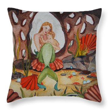 Throw Pillow featuring the painting The Most Precious Treasure by Virginia Coyle