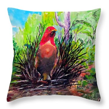 The Most Romantic Birds Throw Pillow