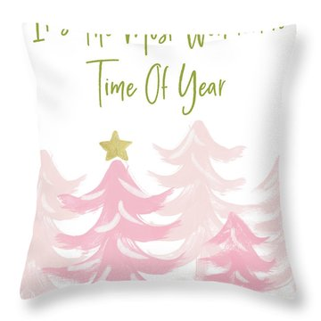 The Most Wonderful Time- Art By Linda Woods Throw Pillow