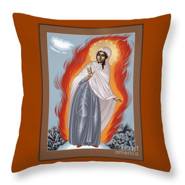 Throw Pillow featuring the painting The Mother Of God Of Medjugorgie 084 by William Hart McNichols