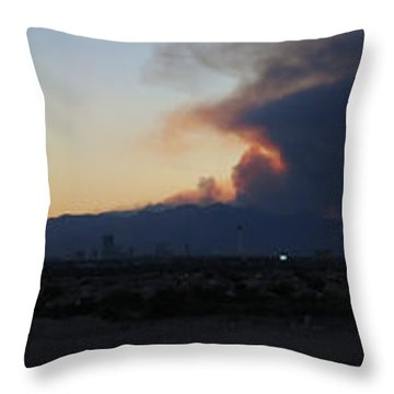 The Mount Charleston Fire Throw Pillow