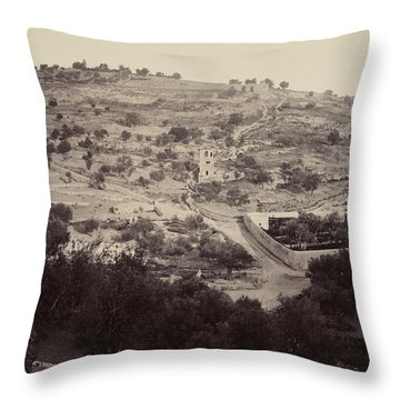 The Mount Of Olives And Garden Of Gethsemane Throw Pillow
