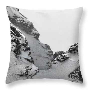 The Mountain Abyss Throw Pillow
