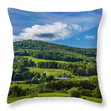 Throw Pillow featuring the photograph The Mountain And Sky Landscape by Paula Porterfield-Izzo