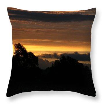 The Mountain At Sunrise Throw Pillow