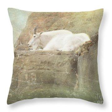 The Mountain Goat Throw Pillow