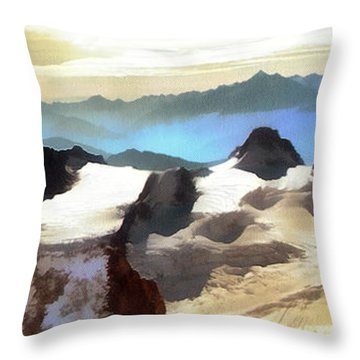 The Mountain Paint Throw Pillow
