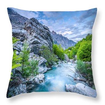 The Mountain Spring Throw Pillow