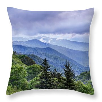 The Mountains Of Great Smoky Mountains National Park Throw Pillow