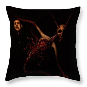 The Murder Bug - Artwork Throw Pillow