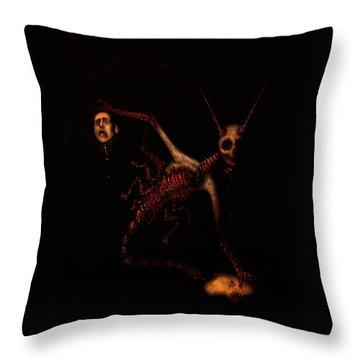 The Murder Bug - Artwork Throw Pillow
