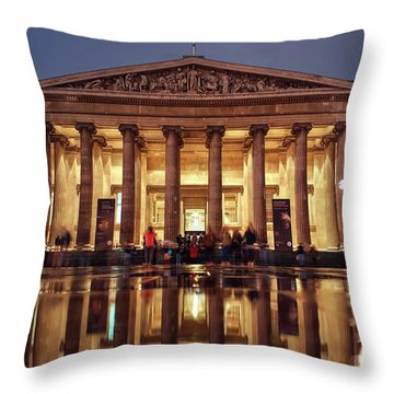 Throw Pillow featuring the photograph The Museum Is Now Closed by Quality HDR Photography