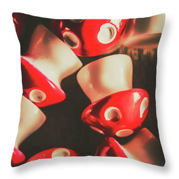 The Mushroom Stack Throw Pillow