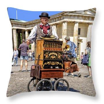 The Music Box Throw Pillow