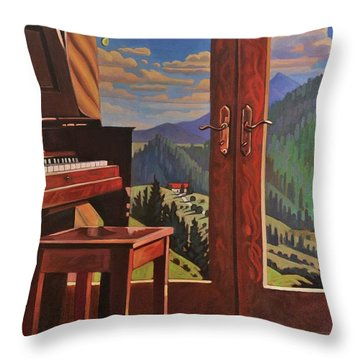 The Music Room Throw Pillow