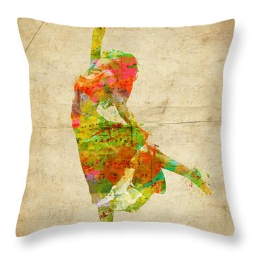 The Music Rushing Through Me Throw Pillow by Nikki Smith