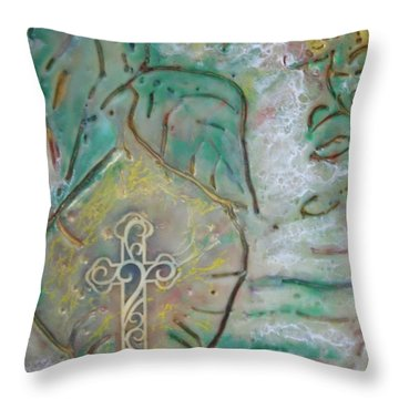 The Mustard Seed Throw Pillow