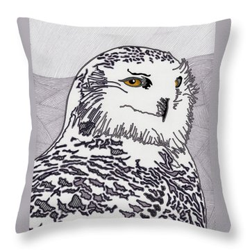 The Mysterious Snowy Throw Pillow