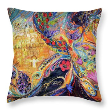 The Mysterious Visitor Throw Pillow