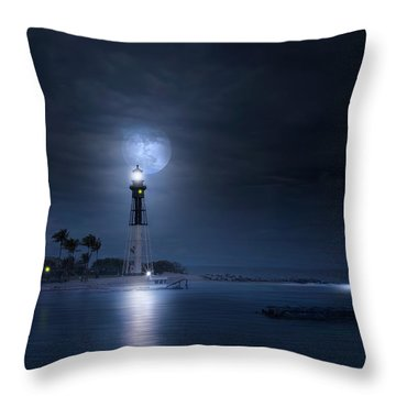 The Mystery Of Lighthouse Cove Throw Pillow