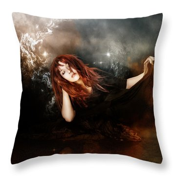 The Mystic Throw Pillow by Mary Hood