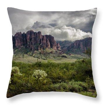 The Mystic Mountain  Throw Pillow