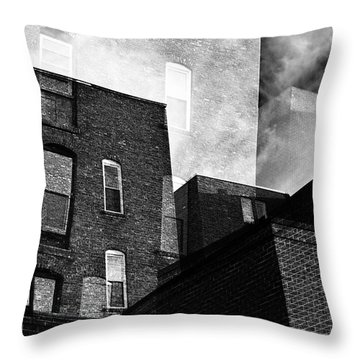 The Naked City Throw Pillow