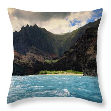 The Napali Coast Throw Pillow