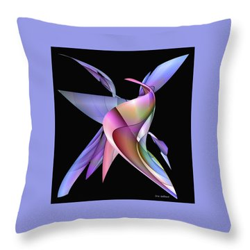 The Napkin Dance Throw Pillow by Iris Gelbart