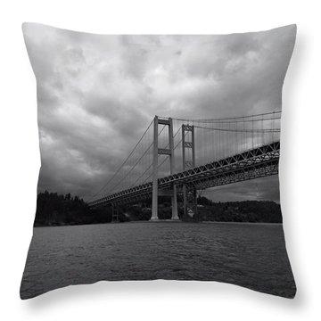 The Narrows Bridge Throw Pillow
