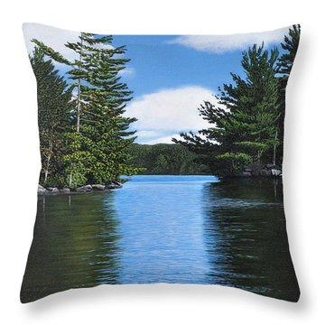 The Narrows Of Muskoka Throw Pillow