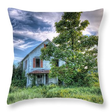 The Nathaniel White Farm House Throw Pillow