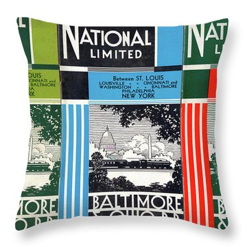 The National Limited Collage Throw Pillow