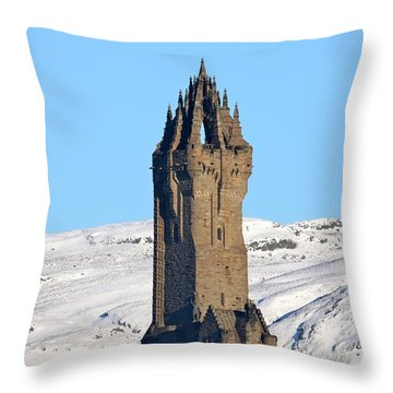The National Wallace Monument Throw Pillow by RKAB Works
