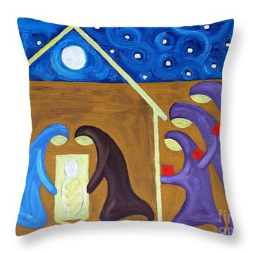 The Nativity Throw Pillow by Patrick J Murphy
