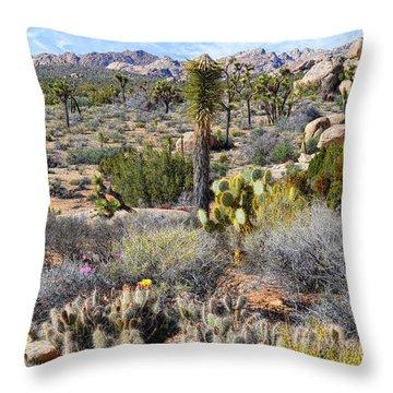 The Natural Garden - Joshua Tree National Park Throw Pillow