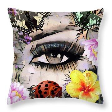 The Nature Girl Throw Pillow