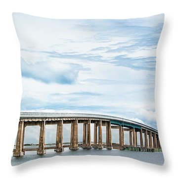 Throw Pillow featuring the photograph The Navarre Bridge by Shelby Young