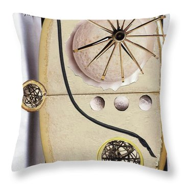 Throw Pillow featuring the painting The Navigator by Michal Mitak Mahgerefteh