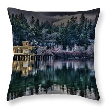 Throw Pillow featuring the photograph The Navy Base P1 by Timothy Latta