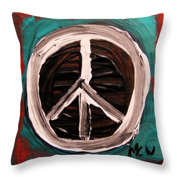 Throw Pillow featuring the painting The Need Continues by Mary Carol Williams