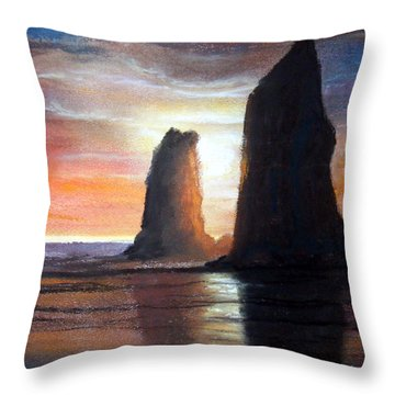 The Needles Throw Pillow by Chriss Pagani
