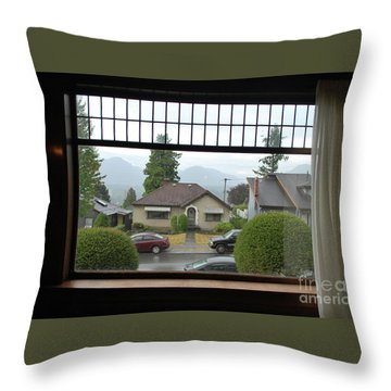 Throw Pillow featuring the photograph The Neighbor  by Bill Thomson