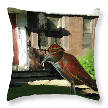 The Neighbor Lady Throw Pillow